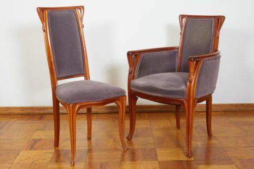 French Art Nouveau Chairs by Louis Majorelle
