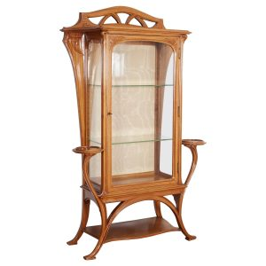 French Art Nouveau Walnut Vitrine by Tony Selmersheim