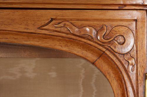 French Art Nouveau Walnut Vitrine by Tony Selmersheim