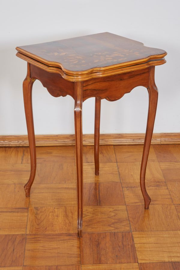 French Art Nouveau game table by Emile Galle