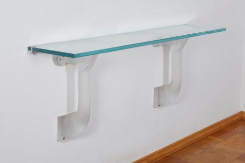 """Lalique Glass Console """"Mouflons""""ght Tables"""