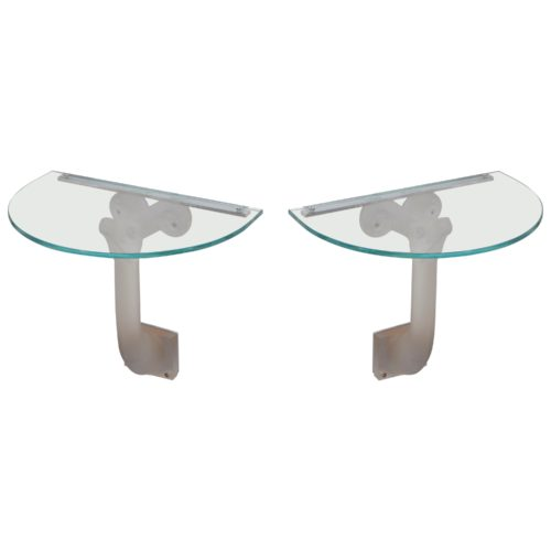 Lalique Glass Consoles or Side Tables or Night Tables