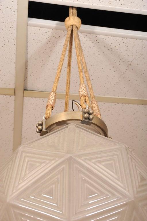 """""""Nanking"""" Art Deco Chandelier by Rene Lalique"""