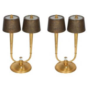 Pair of Table Lamps by Gent et Michon