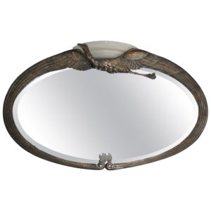 "Albert Cheuret ""Cigogne"" Illuminated Mirror"
